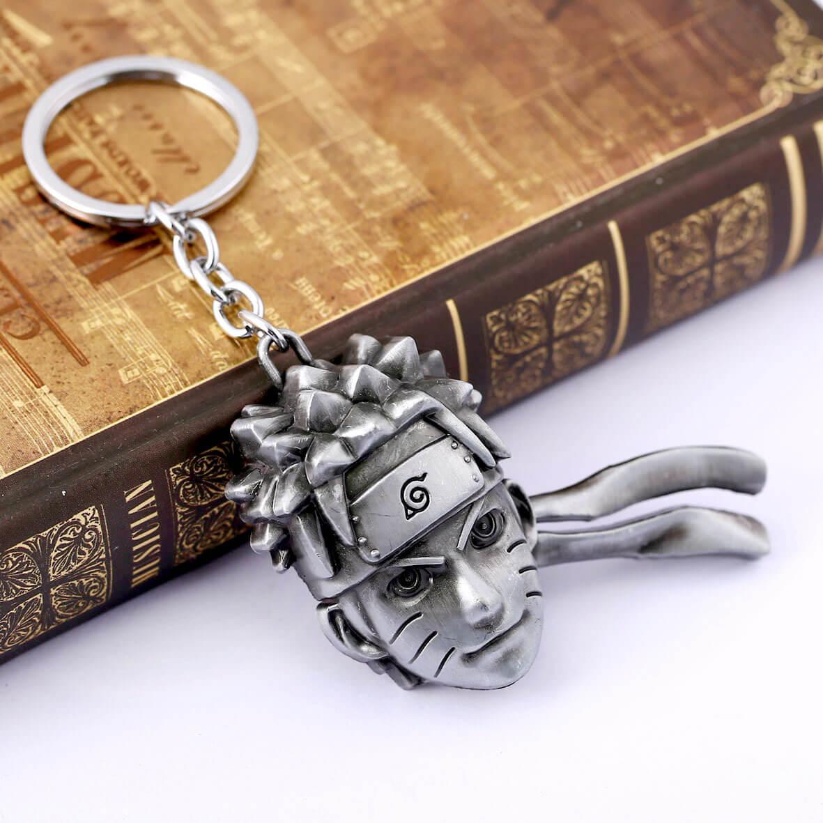 Naruto Uzumaki Naruto Head Logo Key Chain