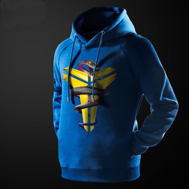 ... NBA Kobe Bryant Mamba Snake Hoodie Black Sweatshirt ... 55baa24189