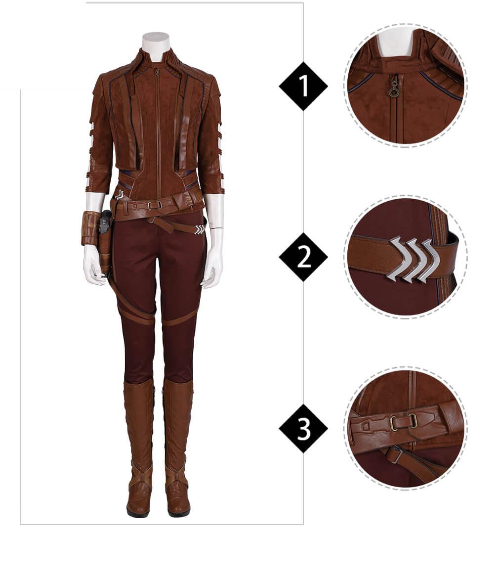 Nebula Costume Cosplay Costume Avengers 4 Endgame Granddaughter of Thanos Full Outfit
