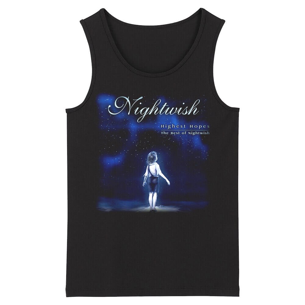 Nightwish Sleeveless Tee Shirts Finland Hard Rock Tank Tops