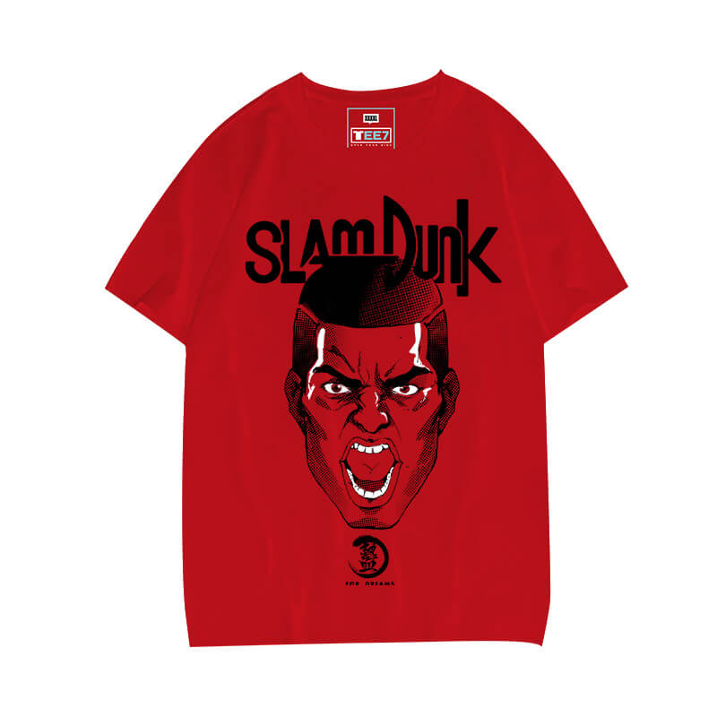 No. 4 Akagi Takenori T-shirt Red Slam Dunk Shohoku Tee Shirt
