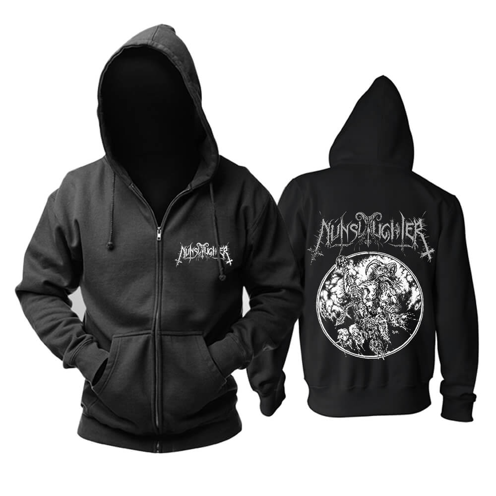 Nunslaughter Hoodie United States Metal Rock Sweatshirts