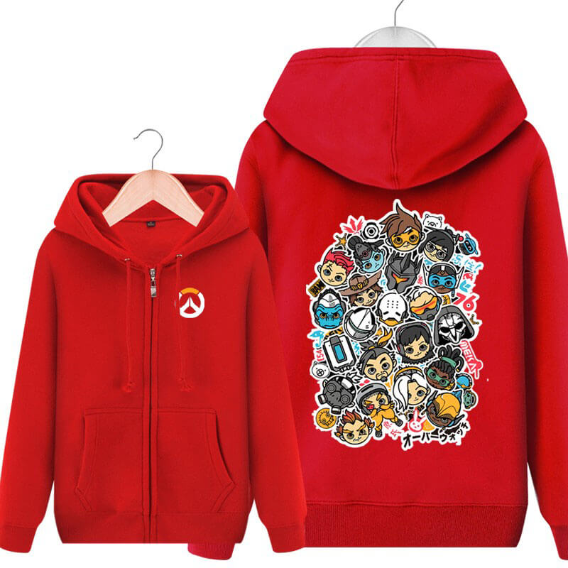 Overwatch All Hero Hoodie For Boys Black Sweater
