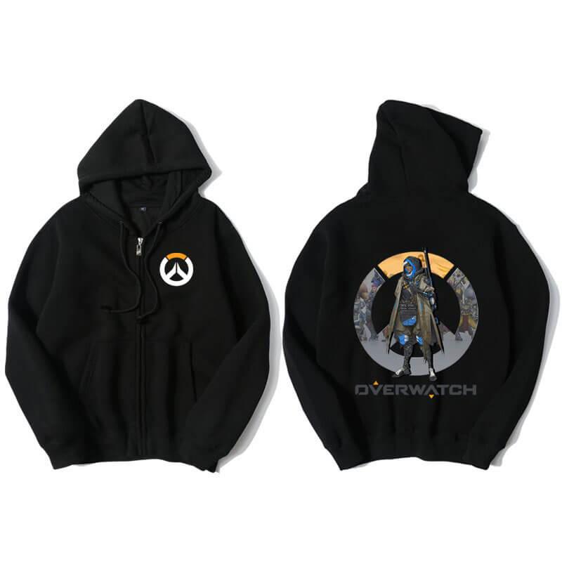 Overwatch Ana Sweatshirt Mens Black Hoodie