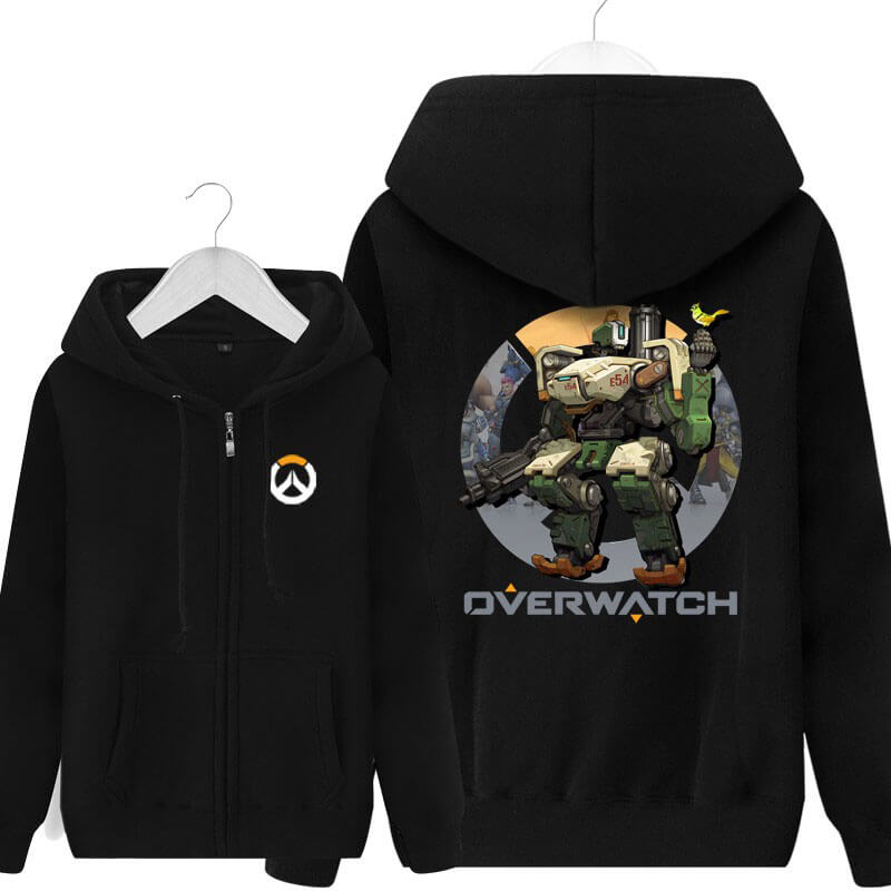 Overwatch Bastion Hoodie For Young Black Sweat Shirt
