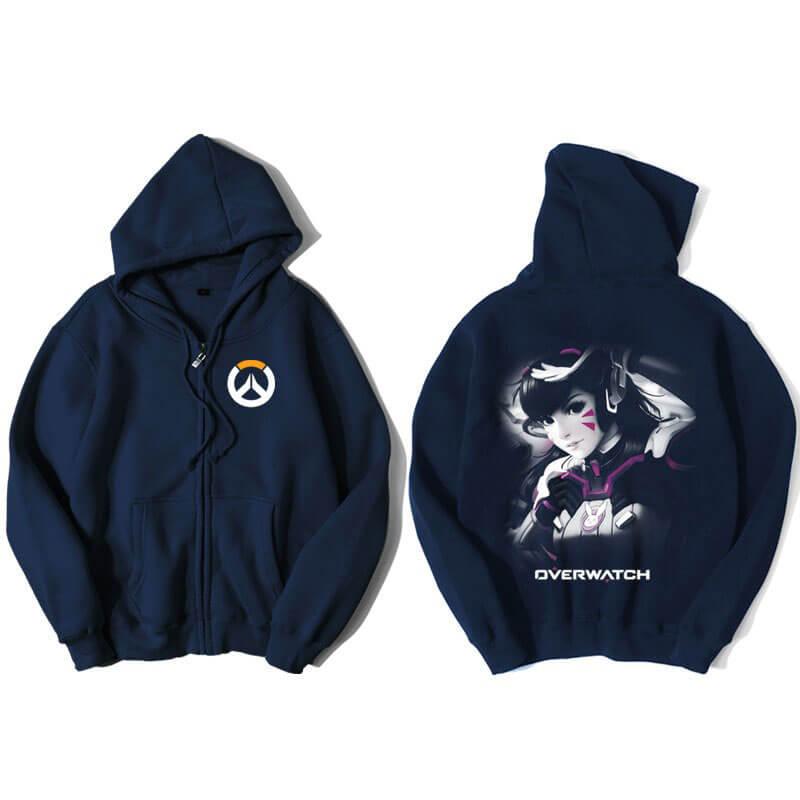 Overwatch D.Va Hoodie For Mens Blue Sweatshirt