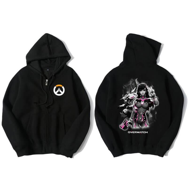 Overwatch D.Va Sweatshirt Men Black Hoodies