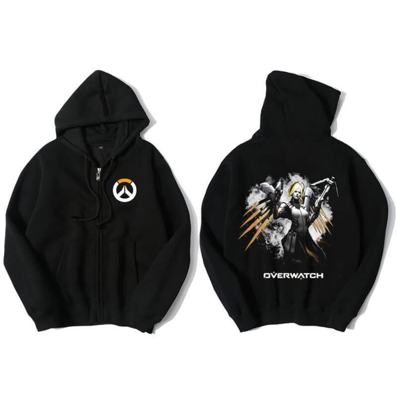 Surveillez Mercy Sweat shirts capuche homme noir | Wishiny