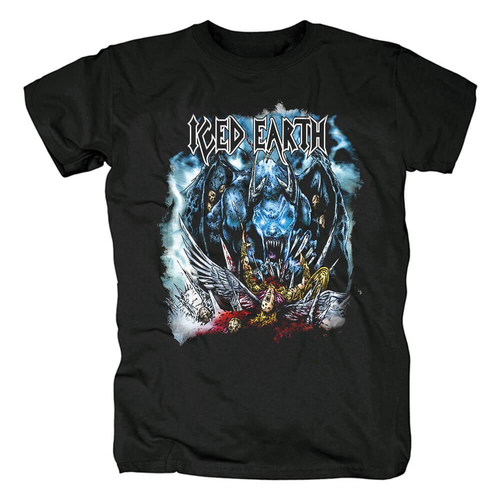 Personalised Band Iced Earth T-Shirt Us Metal Rock Tshirts
