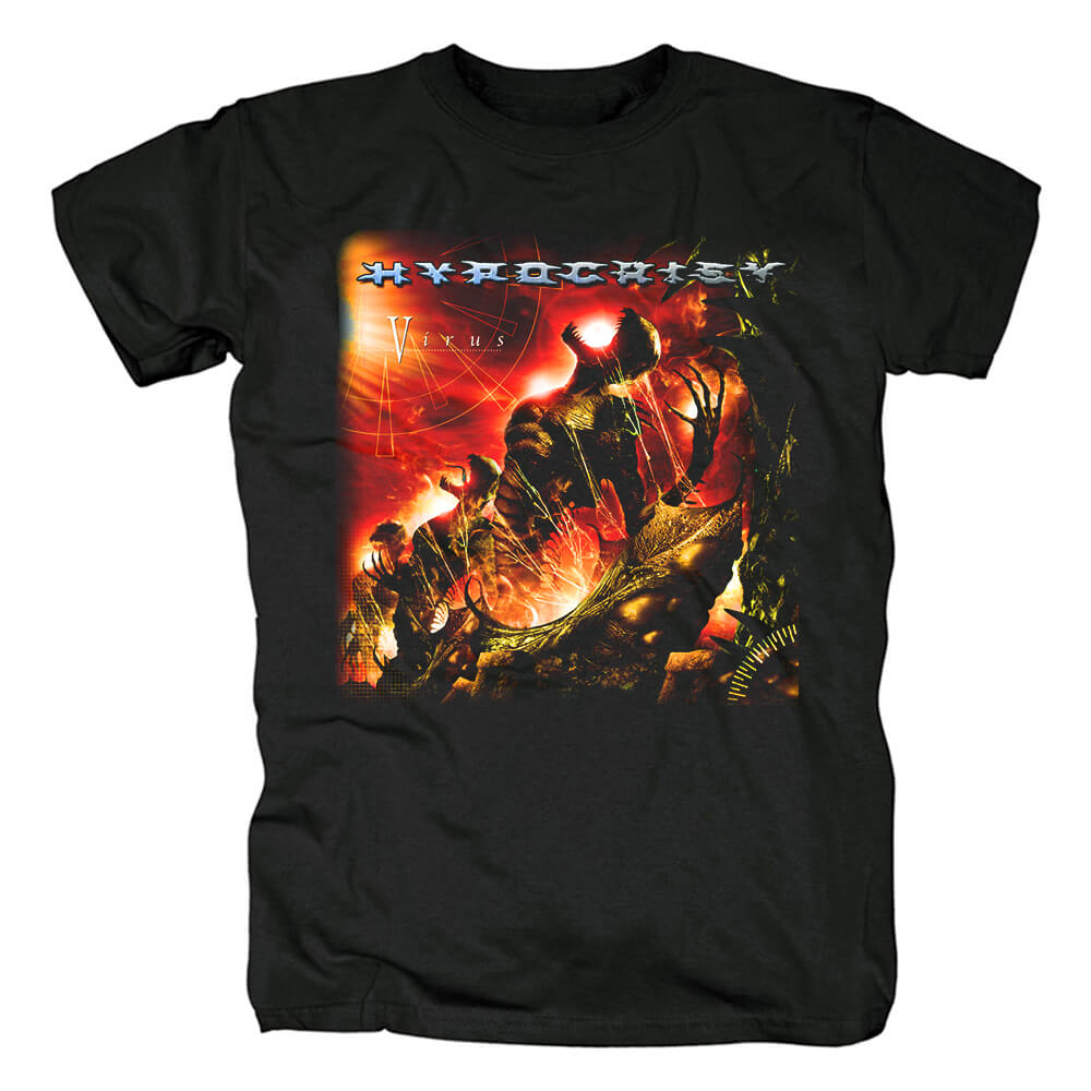 Personalised Hypocrisy Band Tee Shirts Sweden Black Metal Punk Rock T-Shirt