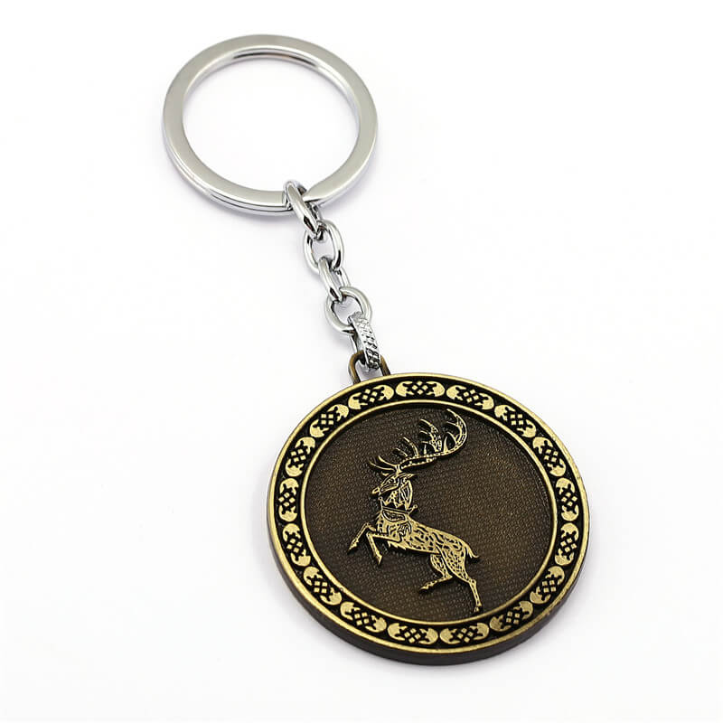 Personalized Game of Thrones House Baratheon Keychains