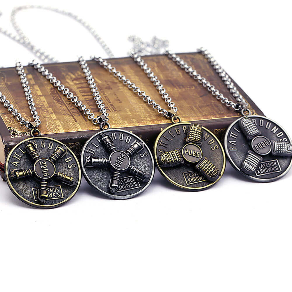 Playerunknown Rotating metal 3D Necklace