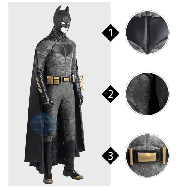Professional Justice League Batman Cosplay Costume
