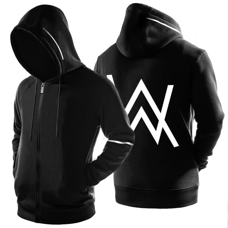 Quality Alan Walker Faded Hoodie DJ Zip Up Hooded Sweatshirt