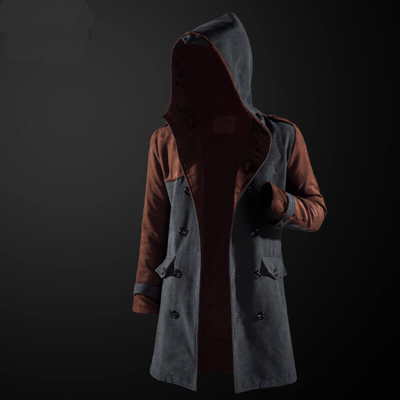Quality Assassin S Creed Trench Coat Assassin Hooded Windbreaker