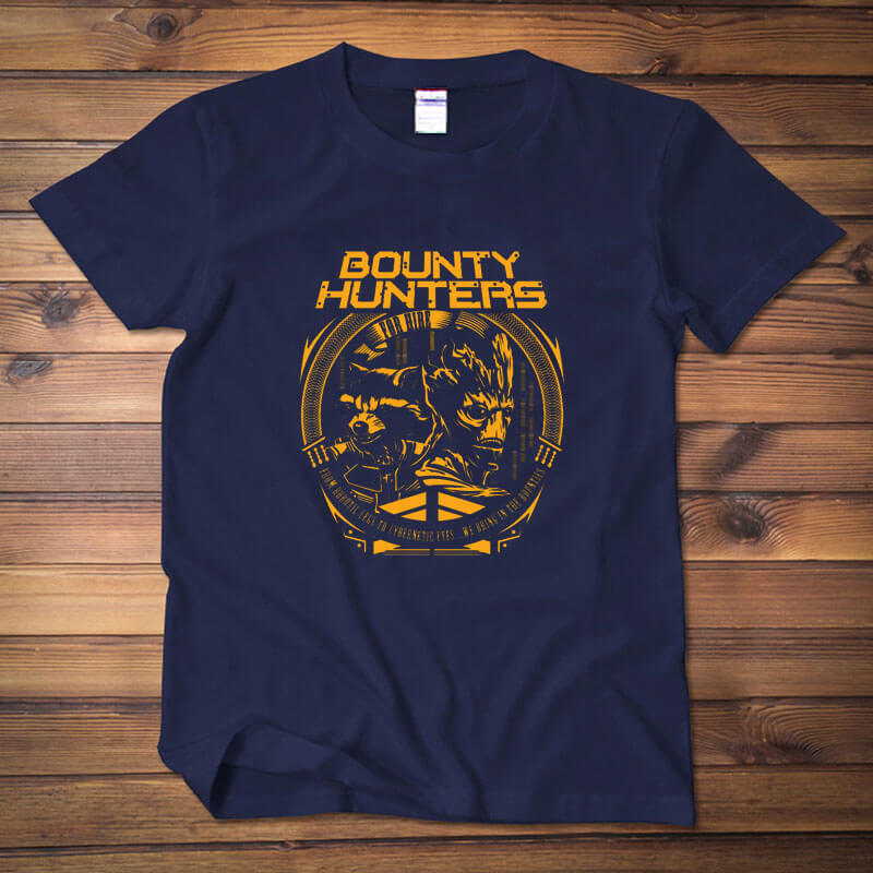 Quality Bounty Hunters Tee Guardians Of The Galaxy Movie Dark Blue t-shirt