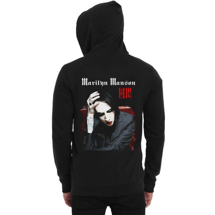 new release wide selection of colors 2018 sneakers Quality Marilyn Manson Rock Hoodie | Wishiny
