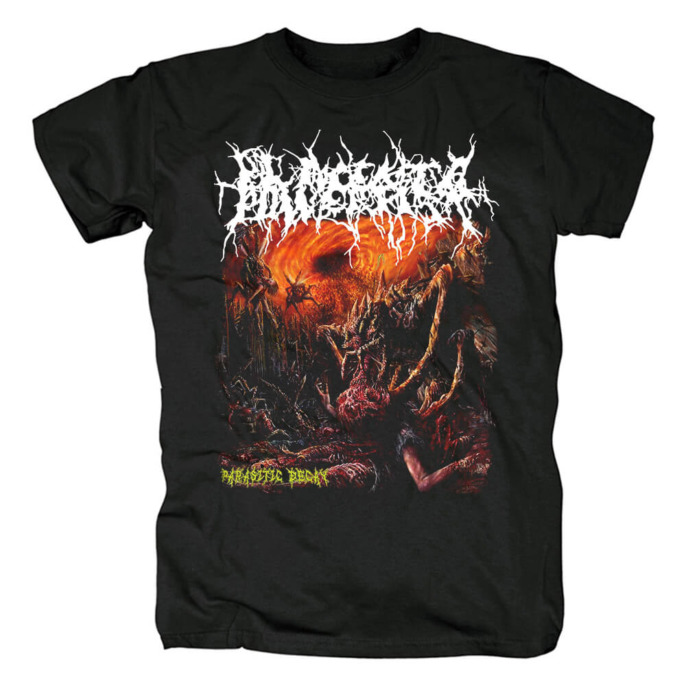 Quality Placenta Powerfist Parasitic Decay Tee Shirts Metal T-Shirt