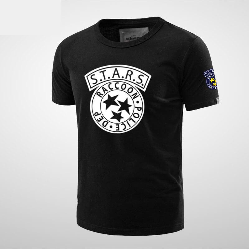 Quality Resident Evil Stars Black T-shirt for Men