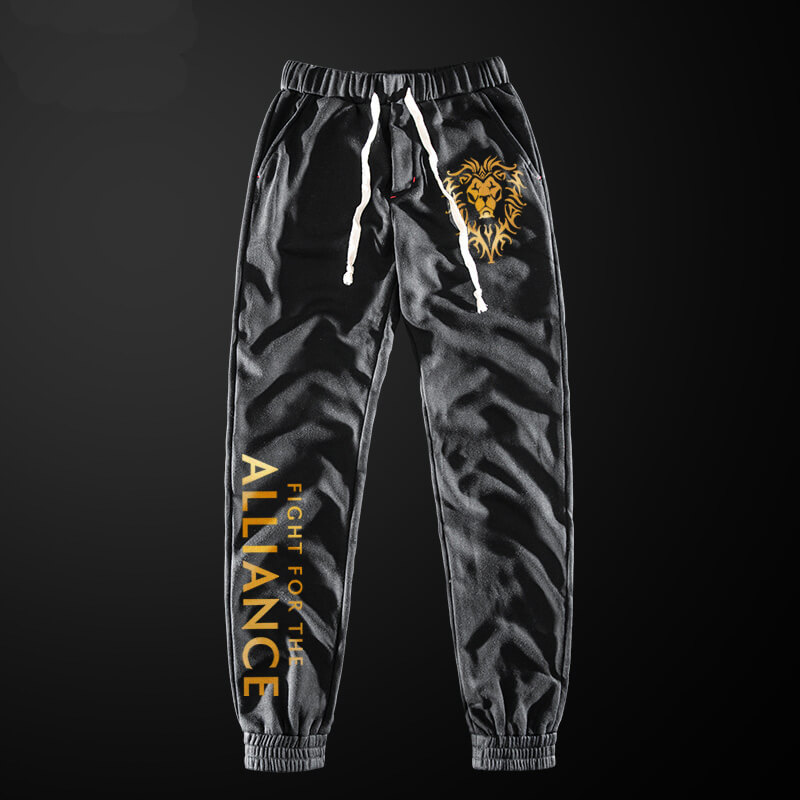Quality WOW Alliance Sweatpants World of Warcraft Game Casual Pants