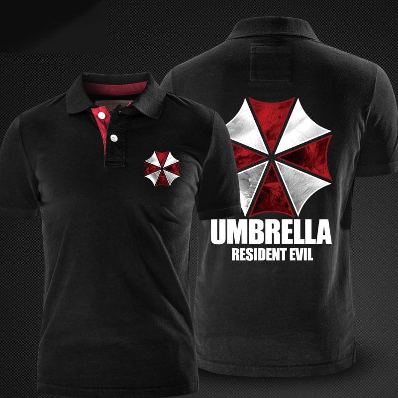 Resident Evil Umbrella Polo Shirts Red Polo Shirt for Men