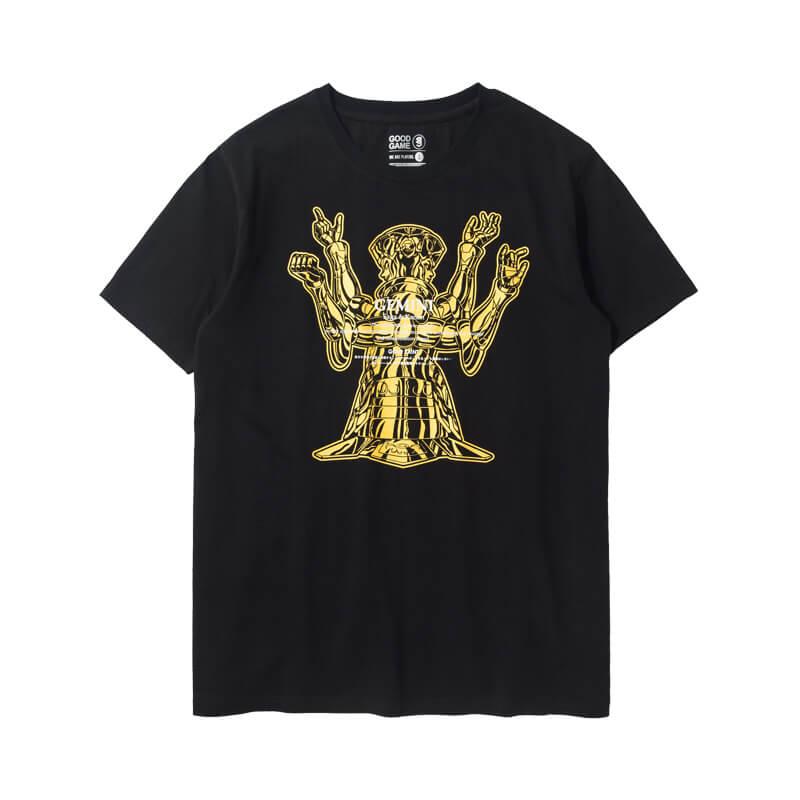 Saint Seiya Gemini T-shirt Black Couple Tee
