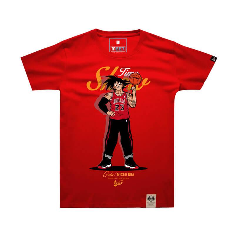 bca5a0021e026 Son Goku T Shirt Red 4XL Couple Dragon Ball NBA Style T-shirt | Wishiny