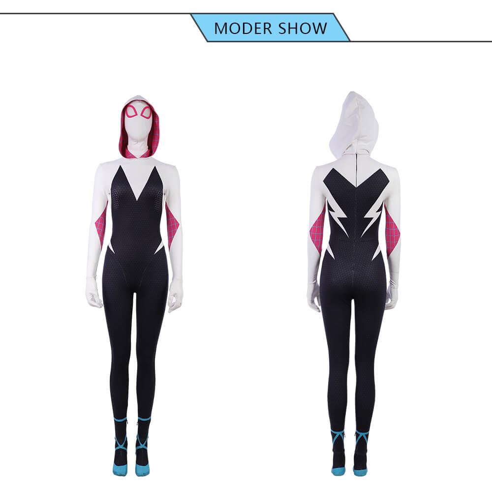 Into The Spider Verse Halloween Costumes Spider-Gwen Jumpsuits