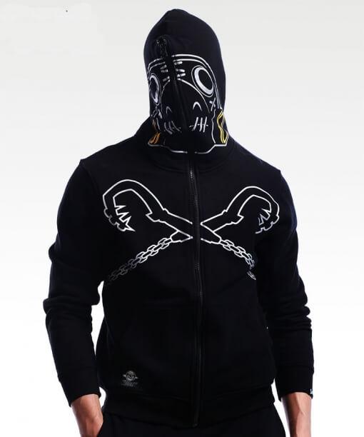 Overwatch Roadhog Cosplay Hoodie OW Hero Full Zip Sweatshirt