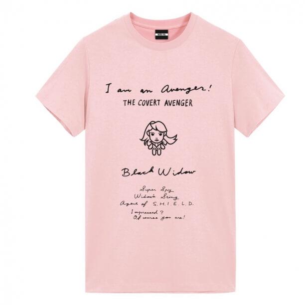 Black Widow Manuscript Design Shirt Marvel Comics T Shirts