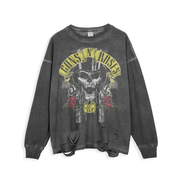 <p>Guns N&#039; Roses Tee Rock and Roll Ripped Retro Style T-Shirts</p>