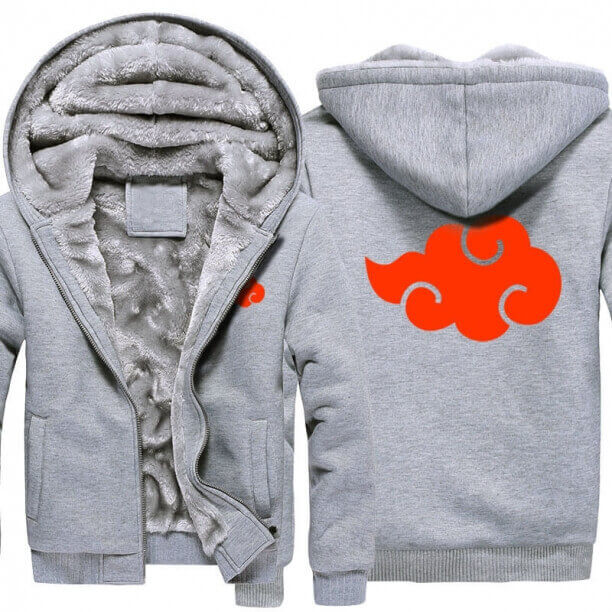 <p>Naruto Akatsuki Logo Winter Coats Thick Hoodies For Winter</p>