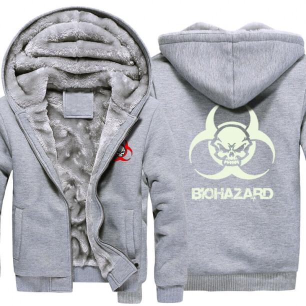 <p>Resident Evil Skull Logo Warm Hoodies For Winter</p>