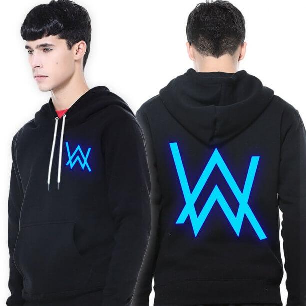 Alan Walker hoodie for men DJ music faded sweatshirt glow in the dark
