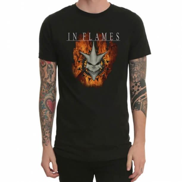 Black In Flames Heavy Metal Rock Tshirt