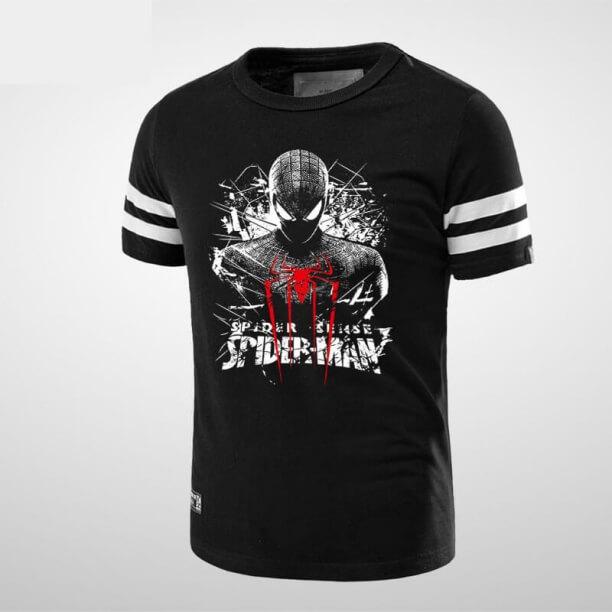 Black Spider Man tshirt Spider Logo Clothing