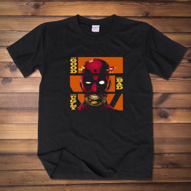Deadpool The Good Bad Uglx T Shirt
