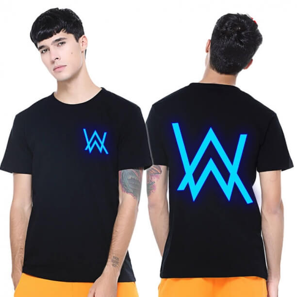 Luminous Alan Walker Logo T-shirt DJ Faded Tee Shirt