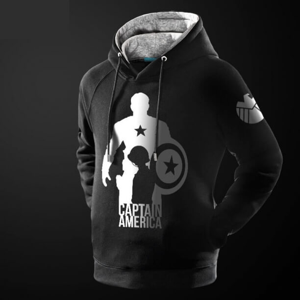 Quality Captain America Black Hoodie for him