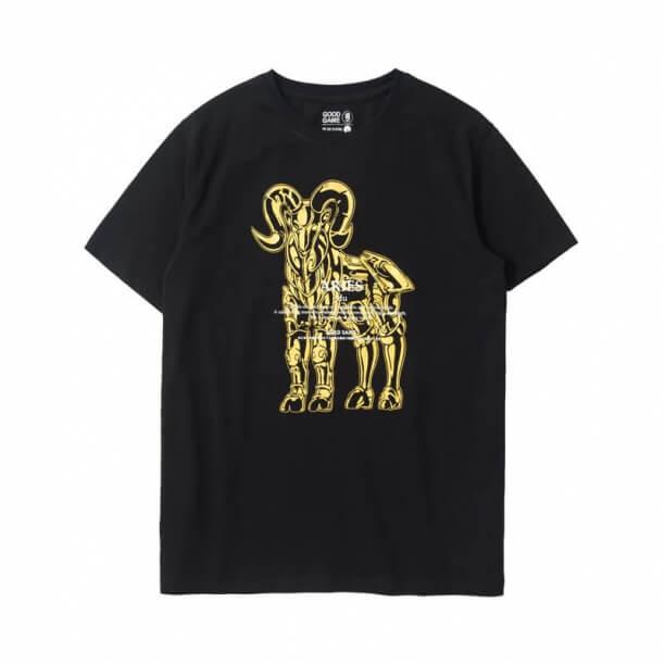 Saint Seiya Aries Tshirt Bronzing Printed Tee