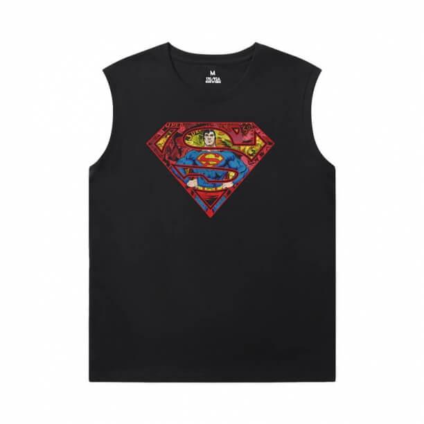 Superman Men'S Sleeveless T Shirts Cotton Justice League Superhero Tees