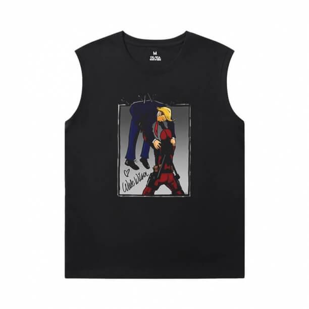 Marvel Deadpool Tee Shirt Mens Sleeveless Tshirt