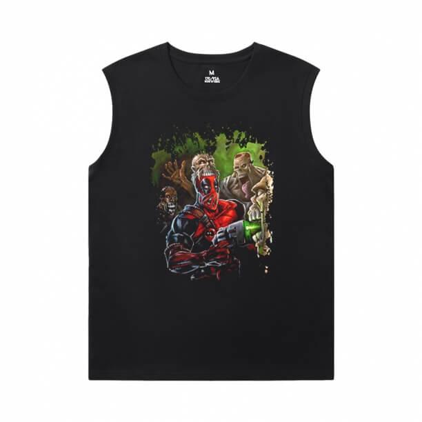 Deadpool Sleeveless Printed T Shirts Mens Marvel T-Shirts