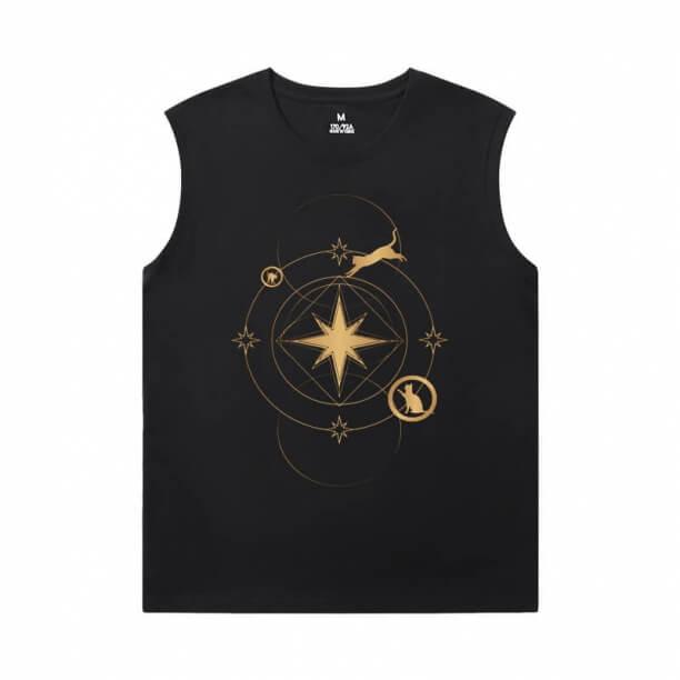 Marvel Captain Marvel Sleeveless Round Neck T Shirt The Avengers T-Shirt