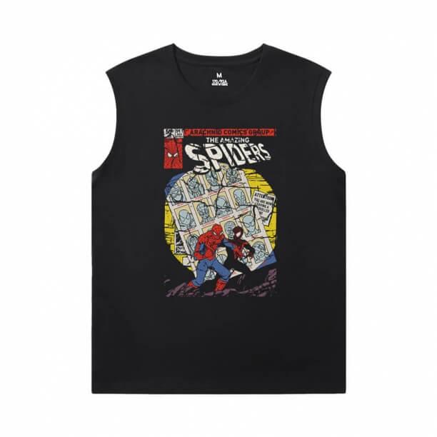 Marvel Spiderman Sleeveless Shirts Mens The Avengers T-Shirt