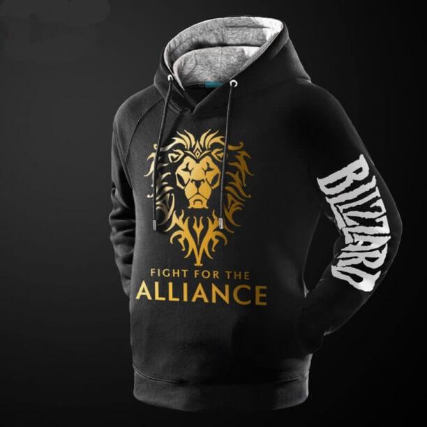 WOW Golden Alliance Logo Hoodie Warcraft Sweatshirt