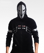 Quality Overwatdh Reaper Cospaly Hoodie Full Zipper Sweatshirt For Men Boy