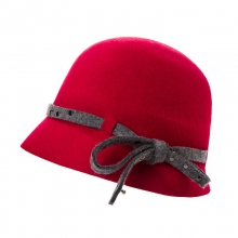 Woolen Hat Warm Retro Fisherman Hat For Ladies Adjustable Red Fedoras Caps