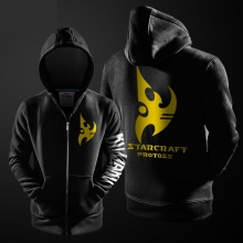 Star Craft 2 Protoss Hoodie Men Black Zipper Coats Cool