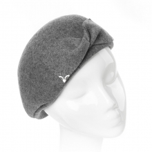 Autumn Winter Peaked Cap Ladies Wool Beret Bow Ornament Hats Girls Wine Red